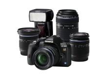 Olympus E-520 Evolution-kit framhåller E-systemets mångsidighet, 33x zoom Evolution-kit i begränsad upplaga