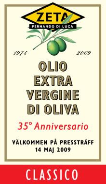 Pressinbjudan: Zeta Olivolja Extra Vergine fyller 35 år