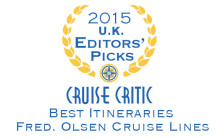 Fred. Olsen Cruise Lines is crowned 'Best for Itineraries' by Cruise Critic experts