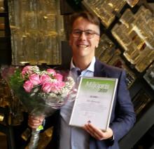 Han får regionens miljöpris 2018