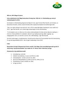 Bestyrelsens forslag til disponering af årsresultatet 2013