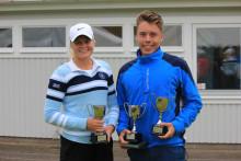 Felix och Anna blev vinnare i internationell golftävling