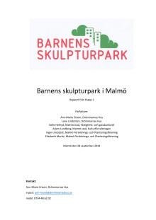 Delrapport 2019 från styrgruppen i Barnens Skulpturpark