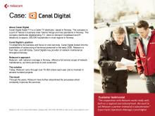 Customer case: Canal Digital