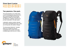 Lowepro Photo Sport II, produktspecifikation
