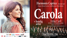 Harmoni visar Capricen på storbild i Lindeskolans aula