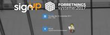 SignUp Software to Sponsor FORRETNINGSsystemer 2017 in Denmark