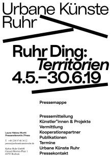 Pressemappe: Urbane Künste Ruhr Jahresprogramm 2019