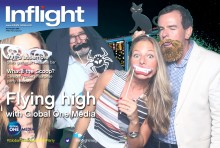 Photo booth fun at the GLOBAL ONE MEDIA APEX EXPERIENCE V.VIP party
