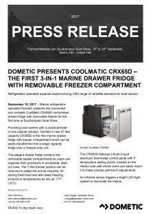 Dometic Presents Coolmatic CRX65D – The First 3-in-1 Marine Drawer Fridge with Removable Freezer Compartment