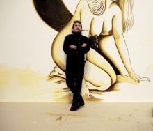 Dr Lakra skapar stor väggmålning på Nordiska Akvarellmuseet