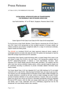 Ocean Signal Introduces New AIS Transponders For Workboat And Offshore Operators
