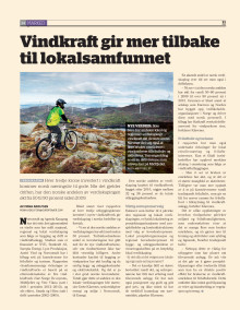 Les artikkelen fra Energi: Vindkraft gir mer tilbake til lokalsamfunnet