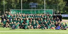 Succé för Celtic HuFF Soccer Academy! Över 125 barn drillas av instruktörerna från Celtic FC hela veckan.