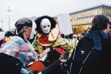 Brukarstyrd demonstration mot hemlöshet
