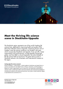 The life science scene in Stockholm 2014