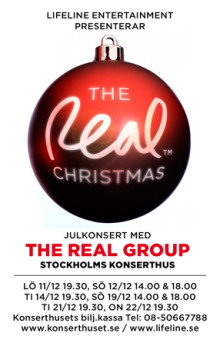 The Real Group intar Stockholms Konserthus i december