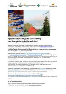 Hjälp till att namnge ny storsatsning  mot övergödning i sjöar och hav!