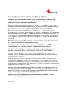 Brev till regeringscheferna i Norden som uppmanar till förbud mot kärnvapen