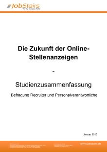 Studie zur Zukunft der Online-Stellenanzeigen
