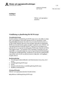 RUFS 2050 utställningsförslag