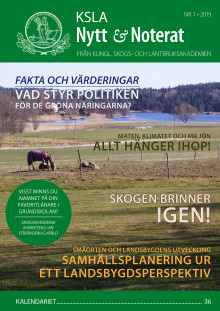 Ute nu: KSLA Nytt & Noterat nr 1-2019