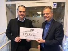 Bristvätten bidrog med 1,9 miljoner kronor till Bris