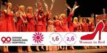 Hjälp oss rädda kvinnohjärtan!  Woman in Red till Luleå