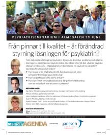 Psykiatriseminarium i Almedalen 29 Juni