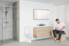 Miehelle kylpyhuone on tekninen tila