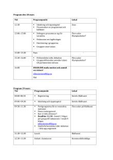Program Olympiaskolan EU-parlamentariker