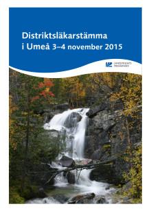 Program för distriktsläkarstämman 3-4 november