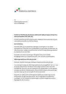 Remissvar förslag till stärkt skoloinspektion