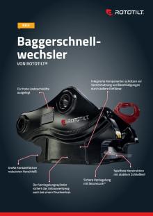 Product sheet machine coupler from Rototilt, German