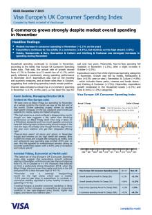 E-commerce grows strongly despite modest overall spending in November
