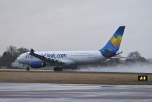Airbus 330 lyfte från Kalmar Öland Airport