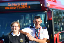 Bus driver's act of kindness goes viral