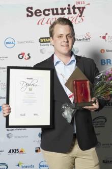 Mattias Arvidsson blev Årets Säkerhetselev