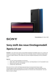 Sony stellt das neue Einstiegsmodell Xperia L4 vor
