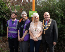 Local Mayor visits Bedworth station to support the work of station adopters