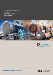 Cavotec Prospectus regarding listing on NASDAQ OMX Stockholm