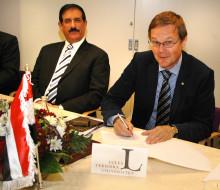 Irak och LTU skrev avtal om forskning