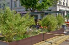 Hållplats i Göteborgs city blir tillfälligt sommarhäng