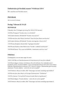Program för Ostfestivalen på Nordiska museet