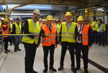 Invigning av nya härdugnen på ISOVER i Billesholm