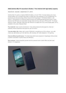 ASUS Zenfone Max Pro pressrelease - Eng version