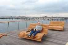 Die neue Promenade am Yachthafen Burgtiefe