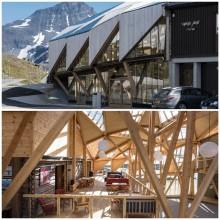 Architektonisches Glanzlicht an Nordeuropas höchster Passstraße