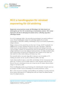 Nationell handlingsplan för minskad exponering för UV-strålning