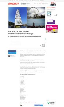 Här finns det flest unga e-handelsentreprenörer i Sverige